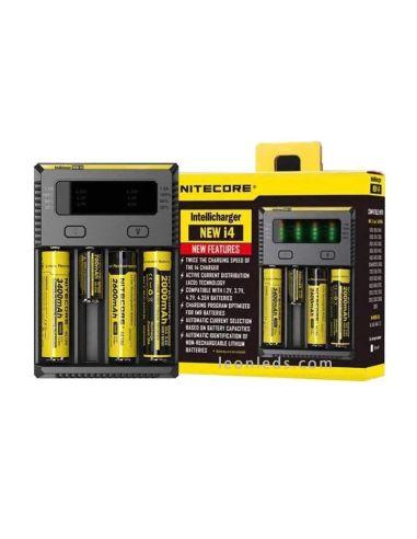 Cargador Nitecore I4 para 4 baterias   Cargador 4 Bahias con indicador de carga   LeonLeds Iluminación