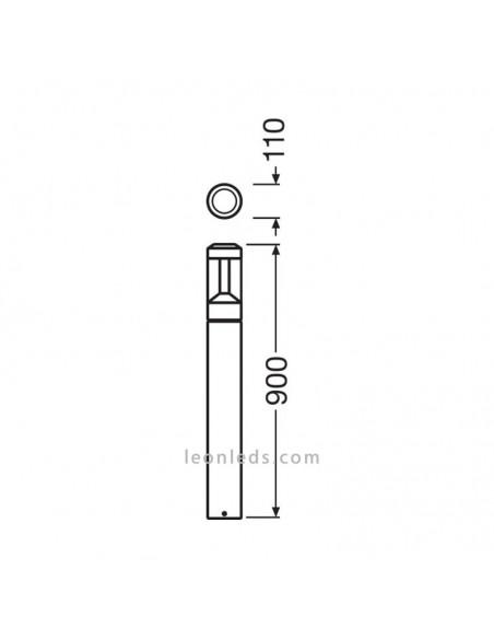 Dimensiones de Baliza LED redonda | Baliza LED redonda de LedVance de 90Cm | LeonLeds Iluminación