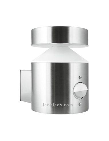 Baliza LED de acero Inoxidable   Baliza LED para exterior con sensor   LeonLeds Iluminación