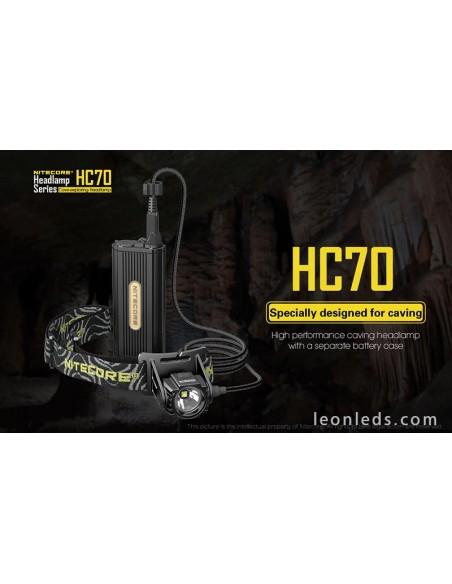 Nitecore HC70 | Linterna LED de cabeza recargable | Frontal LED Nitecore HC70 | LeonLeds Iluminación