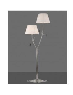 Lámpara de pie de estilo Clásico | Lámpara de pie Cromada | Lámpara de pie Andrea 6320 | LeonLeds Iluminación