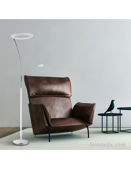 Lámpara de Pie moderna Calgary | Lámpara de Pie Calgary Blanca | Lámpara de pie moderna | LeonLeds Iluminación