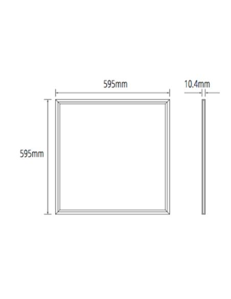Dimensiones Panel LED especial alimentación | Panel LED especial alimentación | LeonLeds Iluminación