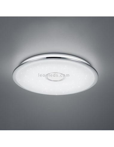 Plafón LED redondo Osaka | Plafón LED Osaka cromado potente | Plafón LED con mando a distancia | LeonLeds Iluminación