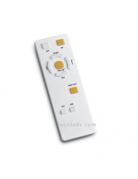 Mando a distancia plafón | Plafón LED redondo cromado | LeonLeds Iluminación