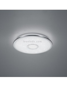 Plafón LED Cromado potente con mando a distancia | Plafón LED redondo para instalar en interior | LeonLeds Iluminación