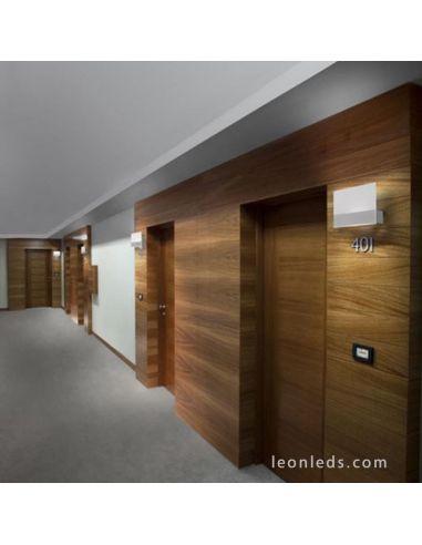Aplique LED en pared interior | Aplique LED Grok Blanco para interior | Aplique LED de pared | LeonLeds Iluminación