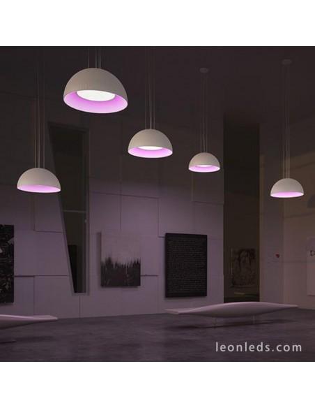 Lámpara de Techo moderna Aura de Grok | Lámpara colgante LED RGB con mando a distancia | LeonLeds Iluminación