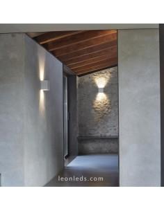 Aplique de pared LED blanco de la marca Grok sirie Prime | Aplique LED de pared interior potente | LeonLeds Iluminación