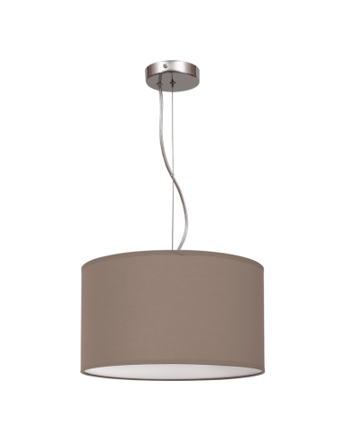 Lámpara de Techo Nicole marrón Topo de 30Cm de diámetro | Lámpara colgante de color Marrón Topo | LeonLeds Iluminación
