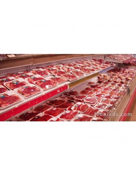 Vitrina de carnes rojas iluminada con Downlight LED especial alimentación | LeonLeds Iluminación