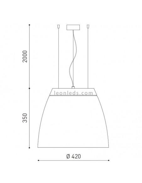 Lámpara Colgante Led Salt 5 de 35W de ArkosLight | LeonLeds Iluminación
