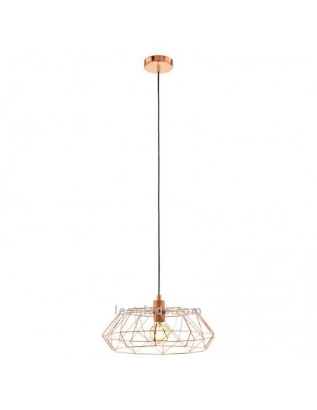Lámpara de Techo vintage Cobre | Lámpara vintage cobre de techo de Eglo Lighting | LeonLeds Iluminación