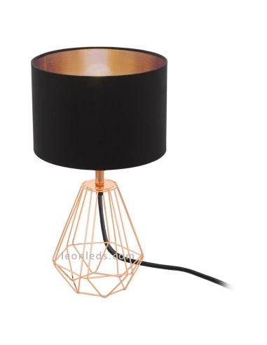 Lámpara de Sobremesa serie Carlton 2 | Lámpara de mesa de noche cobre vintage | LeonLeds Iluminación