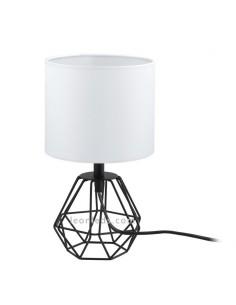 Lámpara de sobremesa blanca y negra vintage | Lámpara de sobremesa Carlton 2 vintage | LeonLeds Iluminación