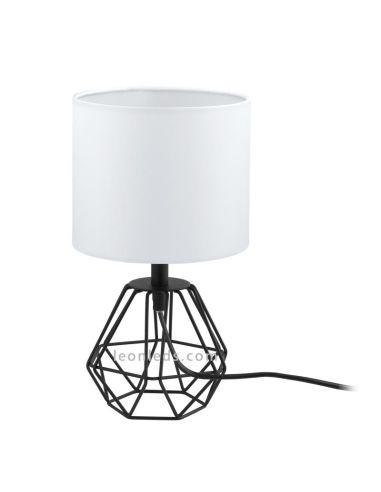 Lámpara de sobremesa blanca y negra vintage   Lámpara de sobremesa Carlton 2 vintage   LeonLeds Iluminación