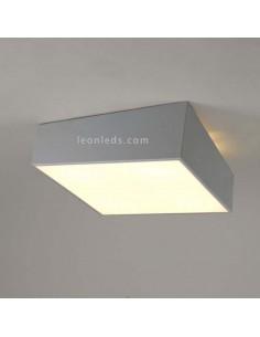 Plafón de techo cuadrado Gris de mantra | Plafón cuadrado plateado | Plafones de techo plateados | LeonLeds Iluminación 6163