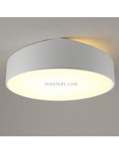Plafón de techo grande redondo de color blanco Mini de mantra 6166 | Plafón redondo blanco | LeonLeds Iluminación