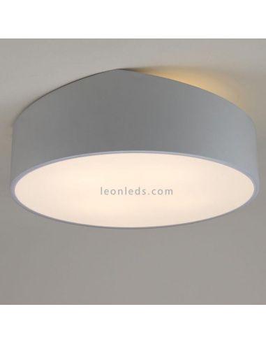 Plafón de techo redondo plateado | Plafón redondo grande Plateado | Plafón de techo grande redondo 6169 | LeonLeds Iluminación