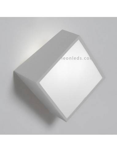 Aplique de exterior cuadrado Mini de mantra 5481 | Aplique de pared exterior moderno | LeonLeds Iluminación