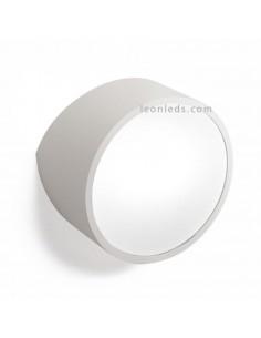 Aplique redondo plateado para pared o fachada exterior | Aplique de exterior moderno Mini de mantra 5482 | LeonLeds Iluminación