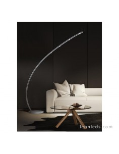 Lámpara de Pie de salón LED moderna | Lámpara de Pie LED moderna Nickel | LeonLeds Iluminación