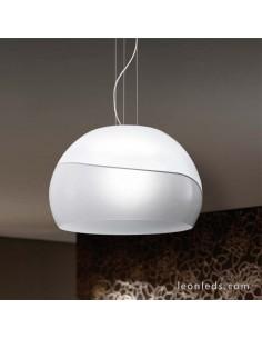 Lámpara de Techo Ontario Cromo y Blanca de cristal de la serie Ontario | Lámpara de Techo moderna | LeonLeds Iluminación