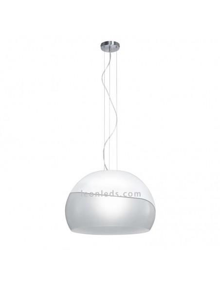 Lámpara de Techo de cristal Blanca y Gris | Lámpara colgante Ontario | LeonLeds Iluminación