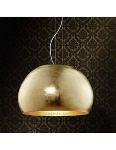 Lámpara de Techo moderna Oro grande | Lámpara de Techo serie Ontario con acabado color Oro | LeonLeds Iluminación