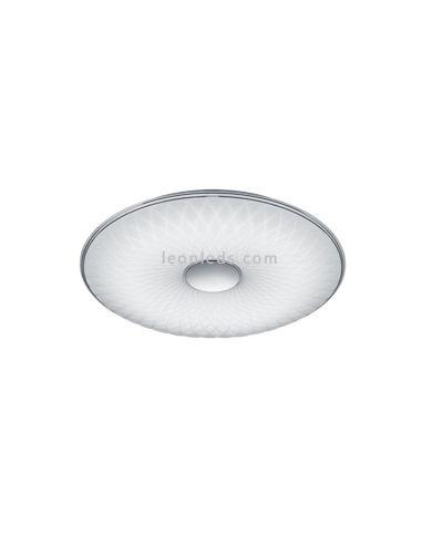 Plafón redondo de Techo moderno con mando a distancia serie Lotus de Trio Lighting | LeonLeds Iluminación