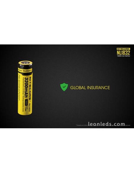 Batería Recargable 18650 de Nitecore para Linternas de Led al mejor precio NL1832 | Leonleds Iluminación