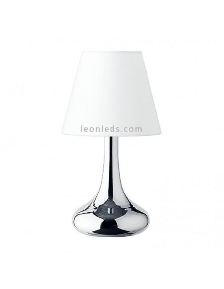 Lámpara de Sobremesa Wim en Niquel y Blanco de Trio Lighting al mejor precio | LeonLeds Iluminación