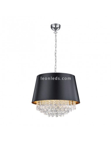 Lámpara de techo Loreley con pantalla negra y 3xE14 | Leonleds Iluminación