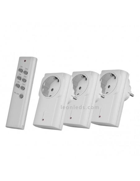 Kit control inalámprica de la iluminación 3 enchufes+ mando | Leonleds Iluminación