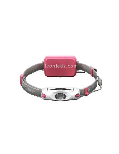 Frontal LED recargable Led Lenser NEO06r Rosa con batería recargable | LeonLeds Iluminacion