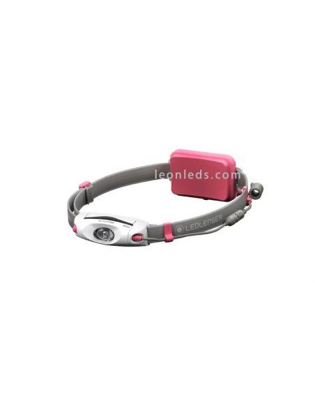 Frontal LED recargable Led Lenser NEO06r Rosa | LeonLeds Iluminacion