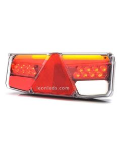 Piloto trasero LED de remolque o plataforma con triangulo reflectante | LeonLeds Iluminación