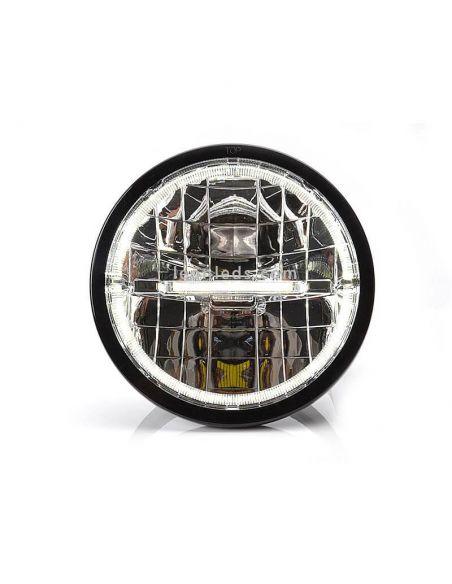 Faro delantero LED redondo homologado para camión o 4x4 | LeonLeds Iluminación LED