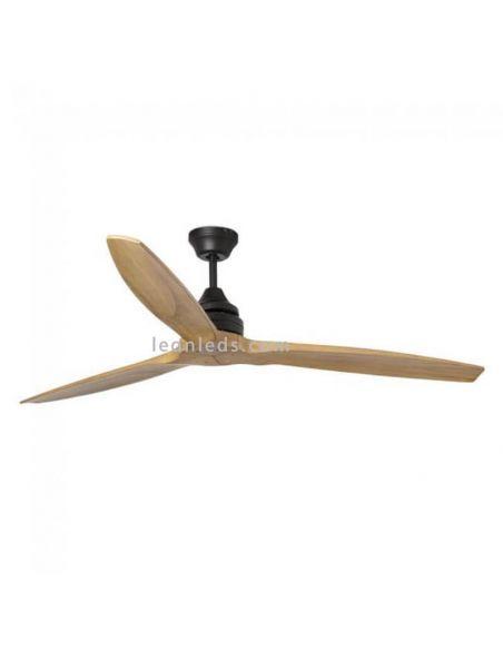 Ventilador de techo de madera con mando a distancia Alo de Faro | LeonLeds Iluminación