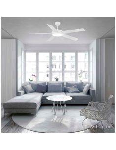 Ventilador de Techo blanco Nova de Faro Barcelona con palas reversibles | LeonLeds Ventiladores de techo