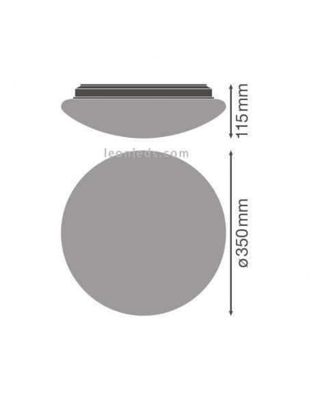Dimensiones de Plafón LED redondo con sensor integrado de Osram LedVance   LeonLeds Iluminación LED