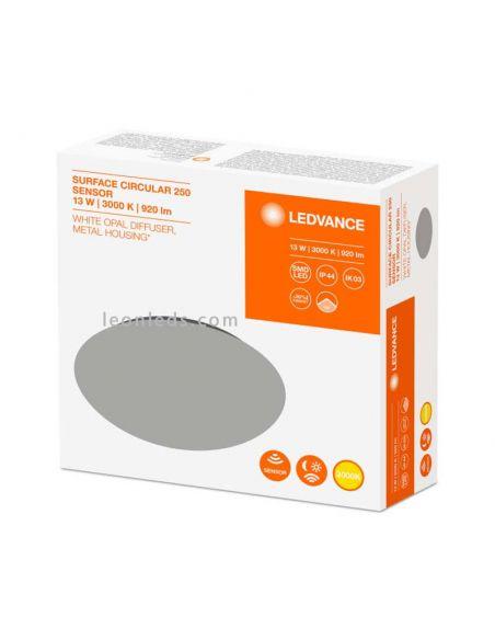 Caja de Plafón LED redondo de Osram LedVance con sensor de presencia integrado | LeonLeds Iluminación LED