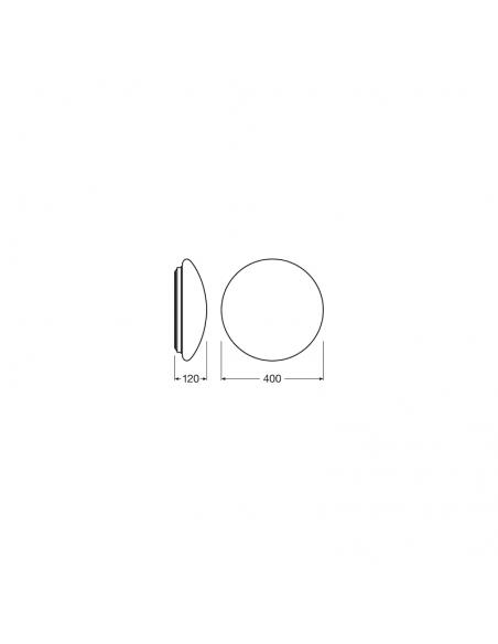 Dimensiones de Plafón LED redondo de Osram Led Vance | LeonLeds Iluminación LED