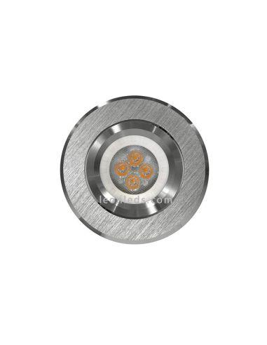 Aro empotrable basculante de la marca Secom fabricado en Aluminio Natural | LeonLeds Iluminación