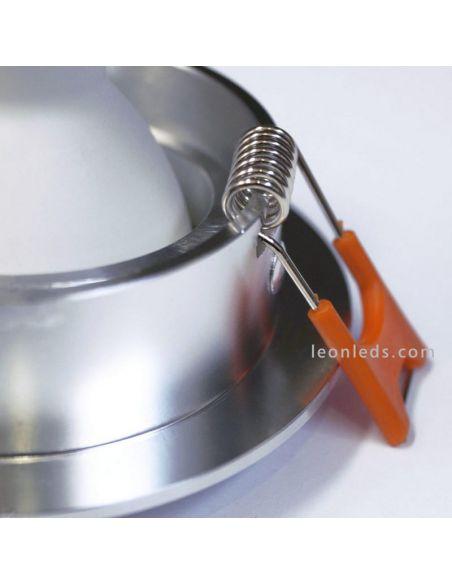 Aro empotrable 228 10 00 Secom de aluminio natural basculantes | LeonLeds Iluminación