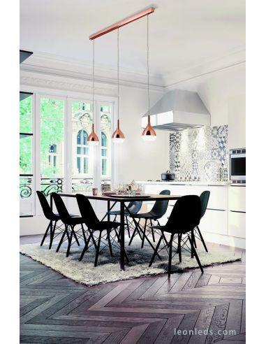 Lámpara de Techo para Comedor de color Cobre Khalifa 3XGU10