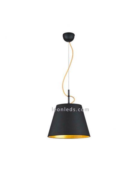 Lámpara de techo moderna Andreus negra y dorada de la marca Trio Lighting   LeonLeds Iluminación