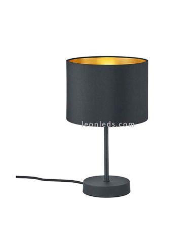 Lámpara de Sobremesa serie hostel negra y dorada | LeonLeds Iluminación