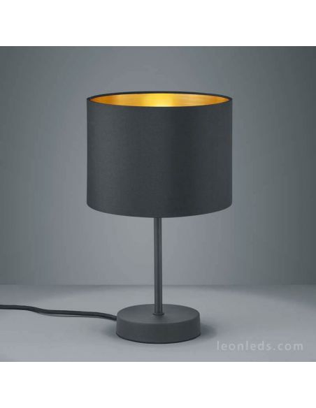 Lámpara de Sobremesa serie hostel negra y dorada de Trio Lihting | LeonLeds Iluminación