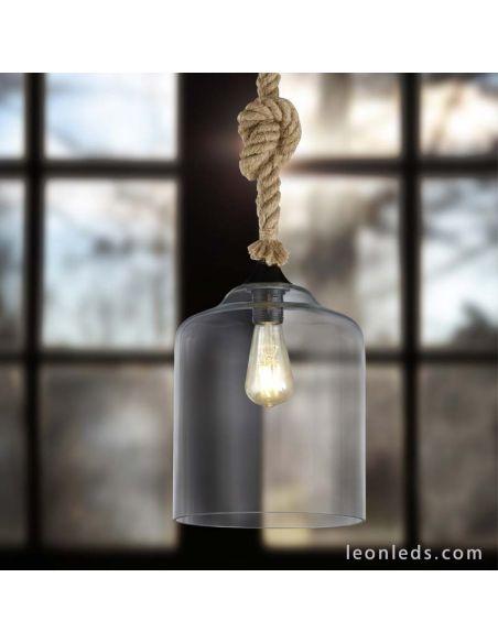 Lámpara de Techo de estilo Vintage de la serie Judith con una pantalla de cristal | LeonLeds Iluminación